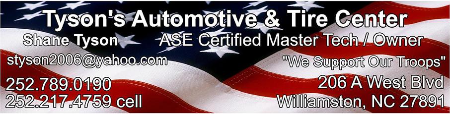 Tyson's Automotive Sponsor Banner