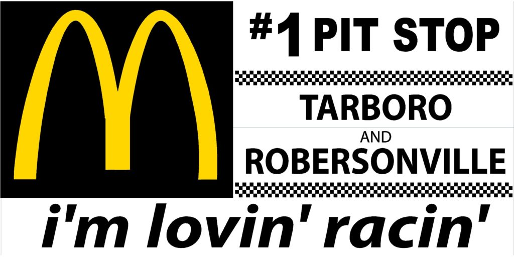 McDONALDS RACE TRACK BANNERS 2016